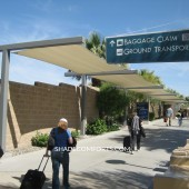 Shade Sails Are Airport Walkway Cover