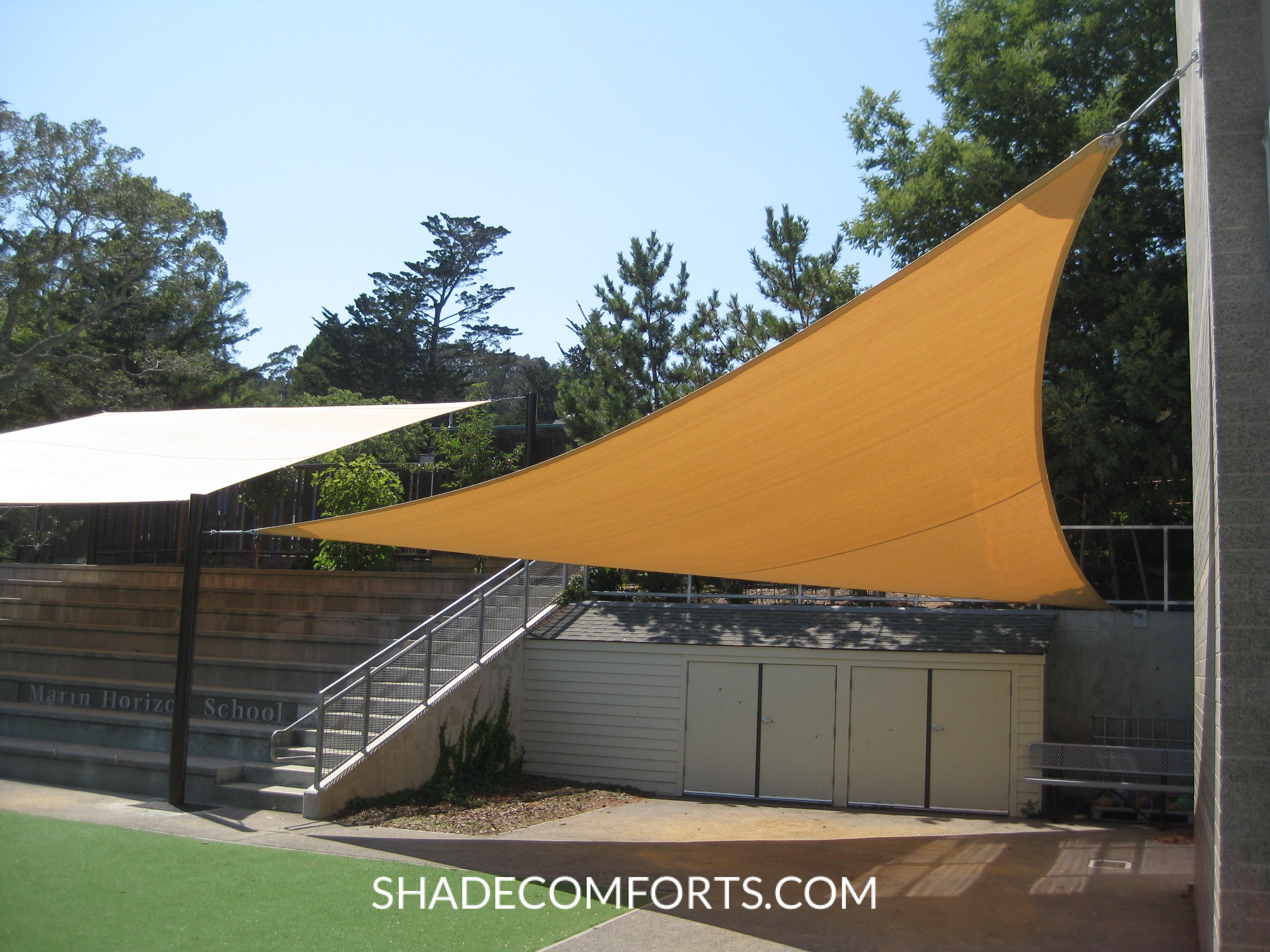 Tensile Structure Bleacher Shade Awning Patio California