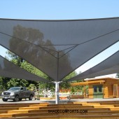 DSA Tensile Shade Structure Marin School Outdoor Seating